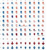 Graphismes de Pin de carte photographie stock libre de droits