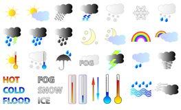 Graphismes de prévisions météorologiques Image libre de droits