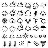 Graphismes de prévisions météorologiques Vecteur Photographie stock
