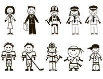 Graphismes de professions de dessin animé Image libre de droits