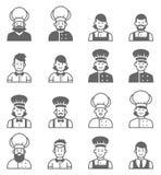 Graphismes de professions de gens Profil d'avatar de cuisinier Photo libre de droits