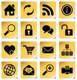 Graphismes de site Web et d'Internet Photos stock