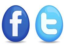 Graphismes de Social de Pâques Photo libre de droits
