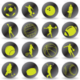 Graphismes de sport Photo stock