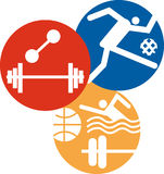 Graphismes de sport Images libres de droits