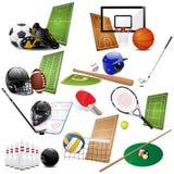 Graphismes de sport de vecteur Photo libre de droits