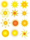 Graphismes de Sun Photos stock