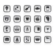 Graphismes de système et de nourritures Images stock