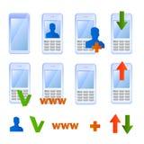 Graphismes de téléphone portable Images stock