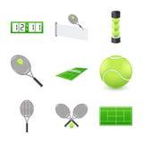 Graphismes de tennis illustration stock