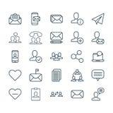 Graphismes de transmission réglés La collection du message lu, unité, éditent et d'autres éléments Inclut également des symboles  illustration de vecteur