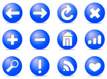 Graphismes de transmission sur des boutons, Image libre de droits