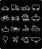 Graphismes de transport Image libre de droits