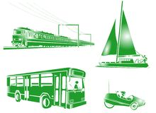 Graphismes de transport de symbole Photographie stock