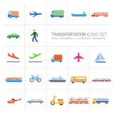 Graphismes de transport réglés Photographie stock