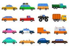 Graphismes de véhicules réglés Images stock