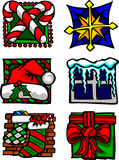 Graphismes de vacances de Noël et logos de vecteur Images libres de droits
