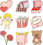 Graphismes de Valentine Photos stock