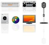 Graphismes de vecteur d'appareils réglés Images stock