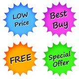 Graphismes de ventes Image stock