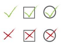 Graphismes de vote Image stock