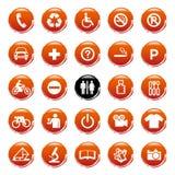 Graphismes de Web de vecteur, boutons. Série ronde Photos libres de droits