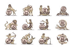 Graphismes de zodiaque. Image stock