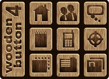 Graphismes en bois Photographie stock