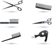 Graphismes et éléments d'accessoires de cheveu Photo libre de droits