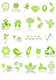 Graphismes et dessins verts illustration stock