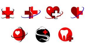 Graphismes et signes de médecine Image libre de droits