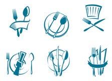 Graphismes et symboles de carte de restaurant illustration de vecteur