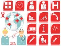 Graphismes et symboles médicaux Photo stock