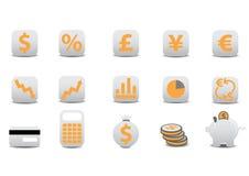 Graphismes financiers Images stock