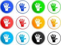 Graphismes maniables de signe Photos libres de droits