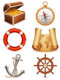 Graphismes marins. Photos libres de droits