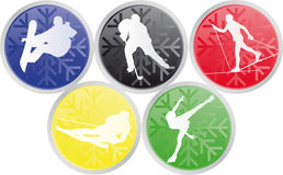 Graphismes olympiques de sports de l'hiver Images stock