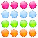 Graphismes ou boutons colorés photos libres de droits