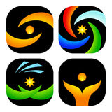 Graphismes ou logos abstraits illustration libre de droits