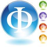 Graphismes - phi grec de symbole Image libre de droits