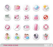 Graphismes. Pink-SET3 de Web Photos stock