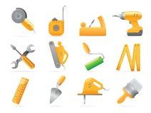 Graphismes pour des outils illustration stock