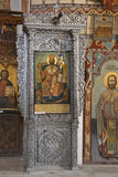 Graphismes religieux - monastère de rue Barnabas Images stock