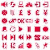 Graphismes rouges de collants de Web [3] Images stock