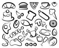 Graphismes simples de nourriture Photos libres de droits