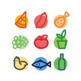 Graphismes stylisés de nourriture Photographie stock libre de droits