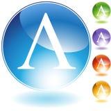 Graphismes - symbole grec lambda Photos libres de droits