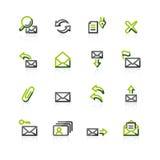 graphismes Vert-gris d'email Photos stock