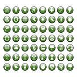 Graphismes verts environnementaux Photographie stock libre de droits