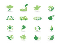 Graphismes verts simples d'eco Images stock